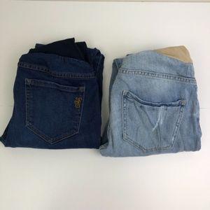 Bundle of 2 Jessica Simpson Maternity Jeans